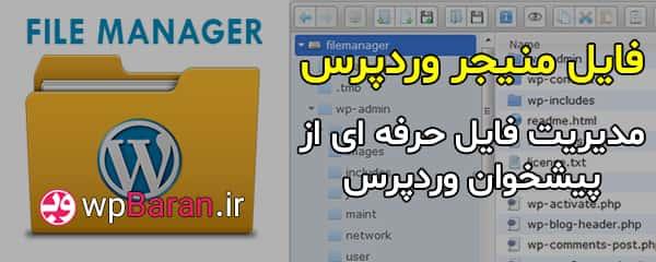 افزونه File Manager Pro وردپرس فایل منیجر وردپرس فارسی مدیریت فایل