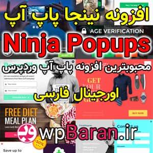 دانلود افزونه نینجا پاپ آپ وردپرس Ninja Popups فارسی (اورجینال)